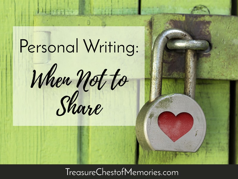 Personal Writing What Not to Share Graphic with lock with heart