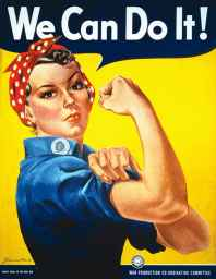 Rosie the Riveter Recruitment Poster .+