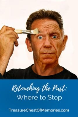 Retouching the Past When to stop