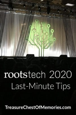 RootsTech 2020 Last-MInute Tips  Pinnable Graphic