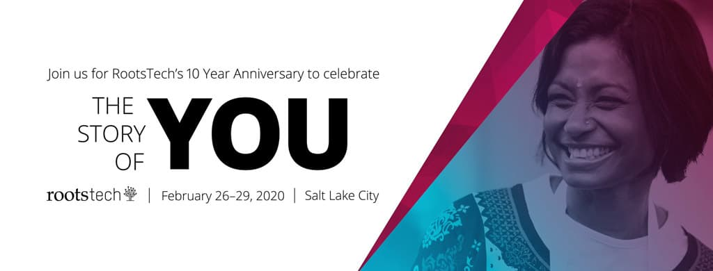 RootsTech 2020 Theme The Story Of you