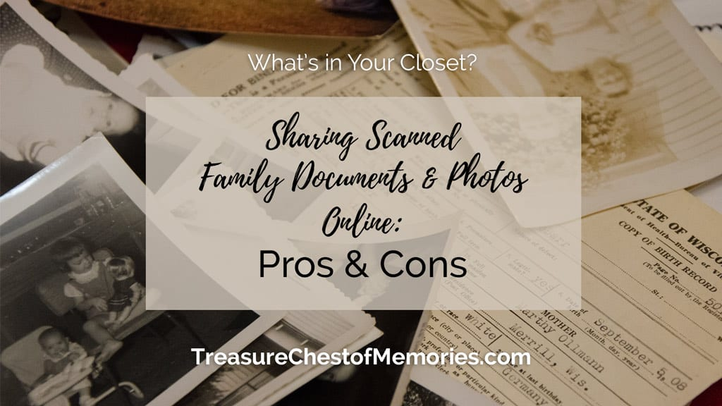 Sharing Scanned Family Documents and Photos Online