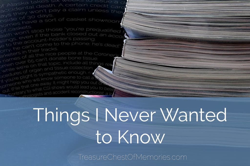 Things I Never Wanted to Know Graphic