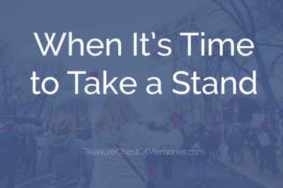 When it's time to take a stand graphic