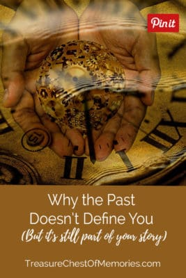 The past doesn't define you image of clocks under water