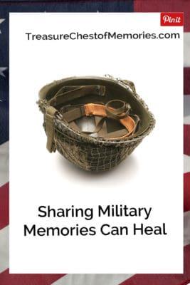 sHARING MILTARY mEMORIES CAN HEAL PINNABLE GRAPHIC