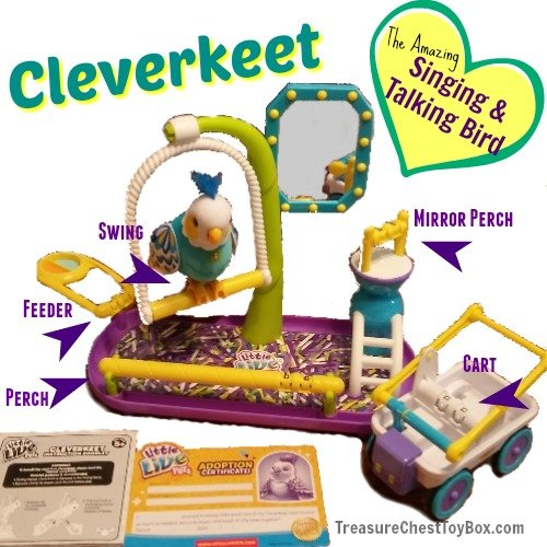 Cleverkeet Little Live Pets Toy Features