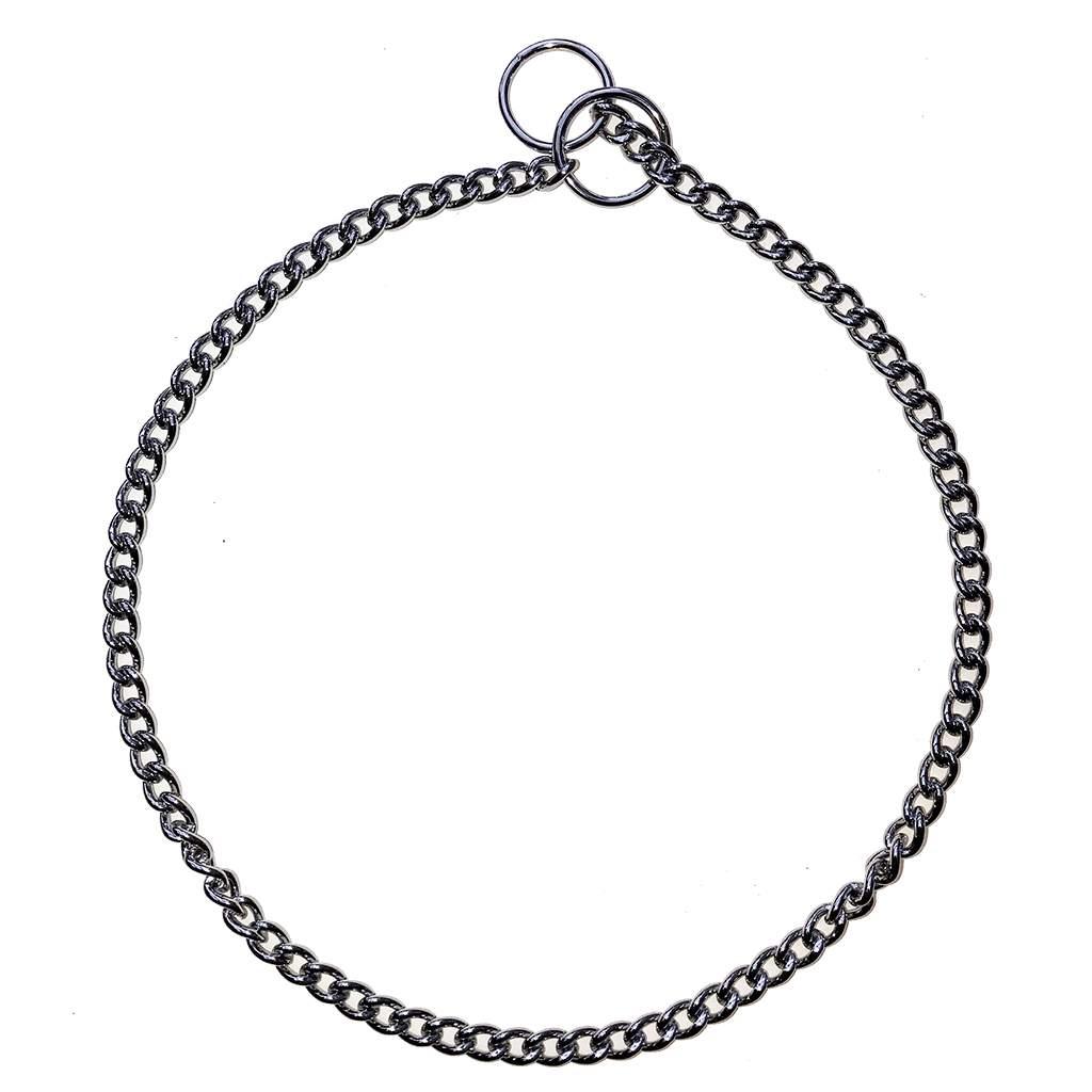 Show/Training Chain Curb Link Choke Collars 2mm (med)