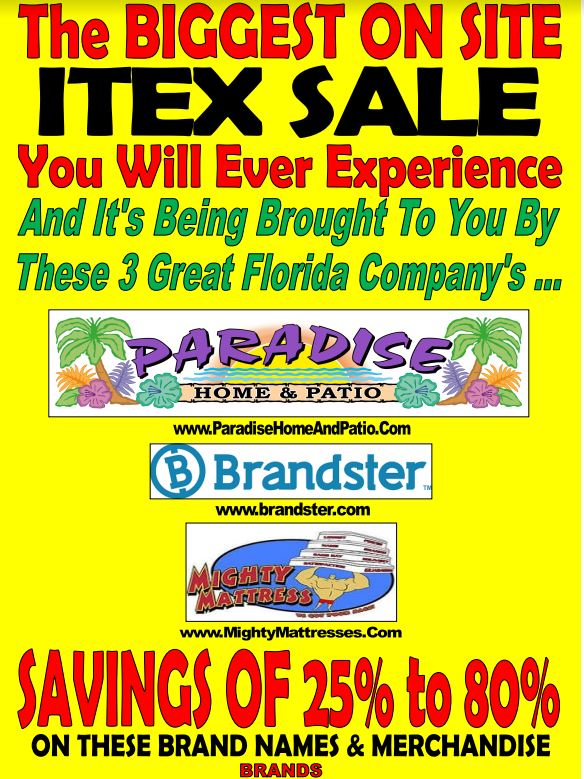 Gigantic Blow Out Sale On Brand Name Furniture And Patio Furniture!!