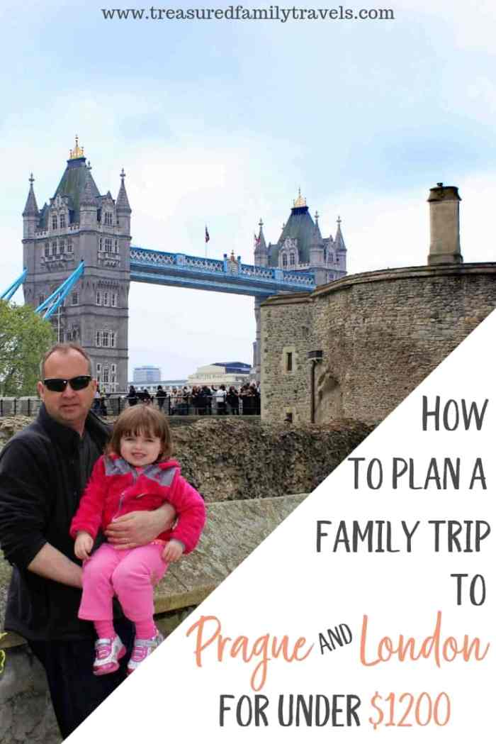 Step by step guide on how to plan a family vacation to Prague and London using miles and points. Enjoy your European vacation for less out of pocket with these easy steps.