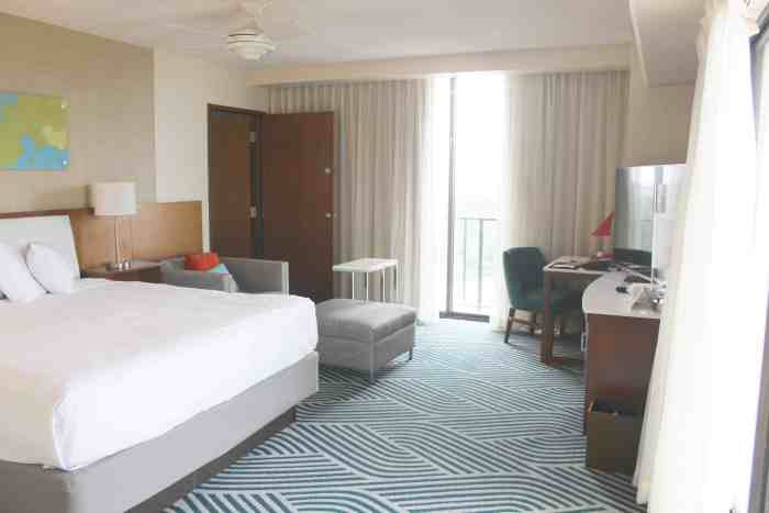 King bedroom in the Hyatt Regency Grand Cypress review