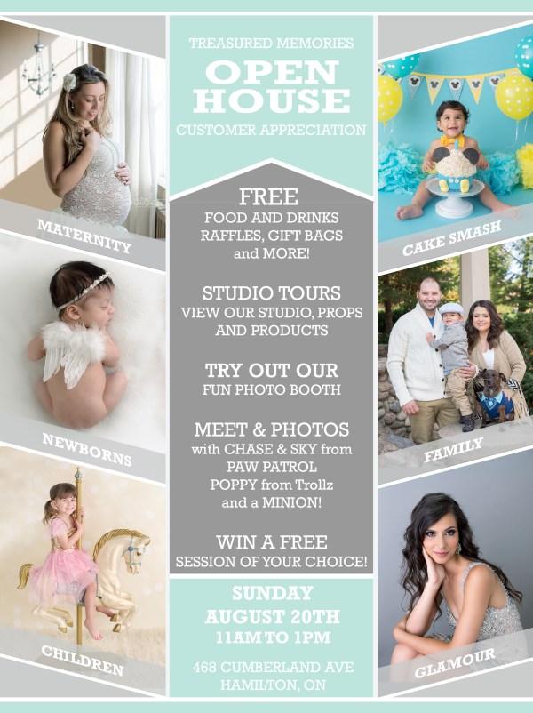 Customer Appreciation Open House, maternity, newborn, cake smash, family