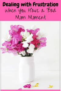 Dealing with Frustration - When you have a Bad Mom Moment