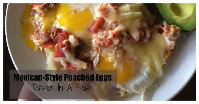 Mexican Poached Eggs are frugal and fast.