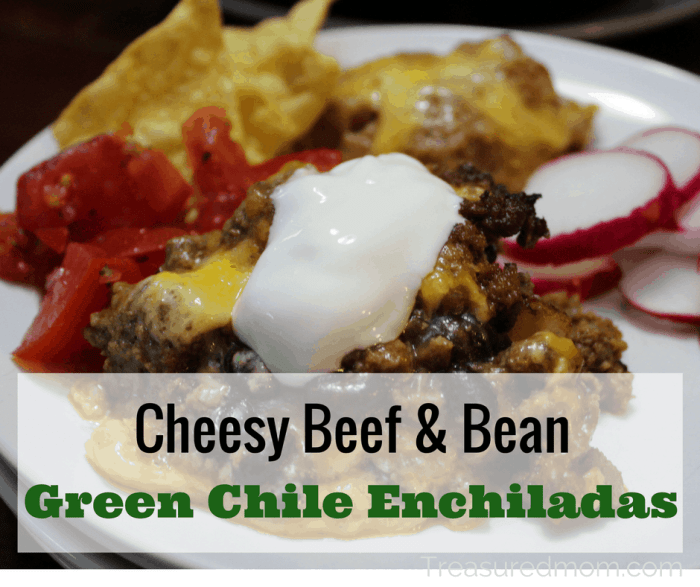 This Cheesy Beef and Bean Green Chile Enchilada Casserole is so amazing! The blend of green enchilada sauce with the beef and cheese is an amazing combination. You've got to make these today!