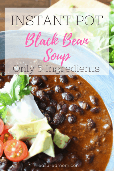 5 Ingredient Instant Pot Black Bean Soup
