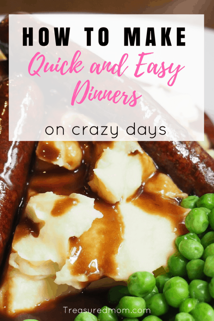 If you're schedule is packed, you need these Quick and Easy Dinner Ideas. They will save you time and money.