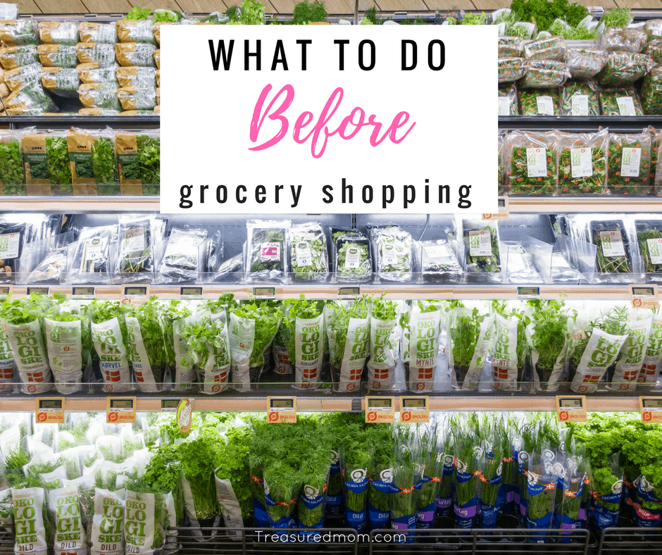 What To Do Before Grocery Shopping