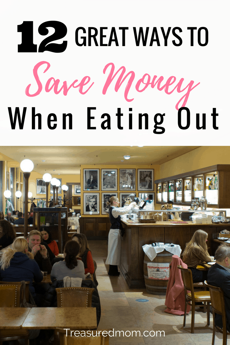 Want some great ideas on how to Save Money When Eating Out? Eating out is expensive but it is possible to save money on food. Check out the 12 tips here.
