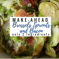Make-Ahead Brussels Sprouts and Bacon