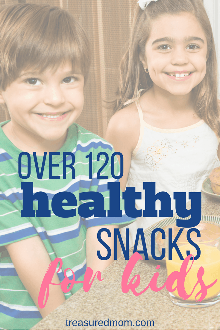 With over 120 Easy Healthy Snacks For Kids, you'll never run out of options. These are all gluten-free snack ideas, too. Stock your pantry with these kid-friendly snack ideas and you'll always be ready, too. Download the Free Healthy Snack Ideas For Kids Printable.