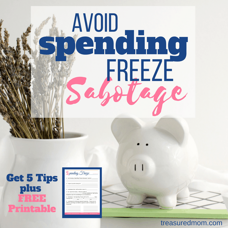 These 5 spending freeze tips will help you face your next challenge. So many things will come up to sabotage you, but you can be successful! The ideas here will help you save tons of money this month, week, or weekend.