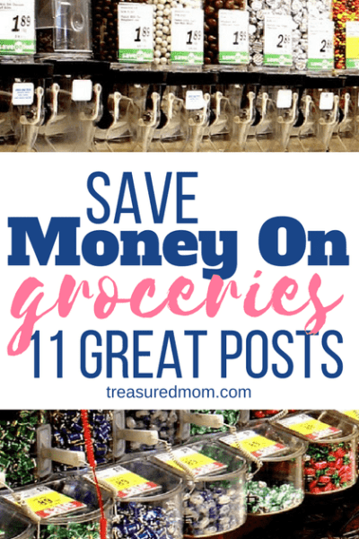 11 Great posts to help you save money on groceries. There are a ton of tips here. Click to read this roundup of the best tips and learn how to get your grocery budget on track.
