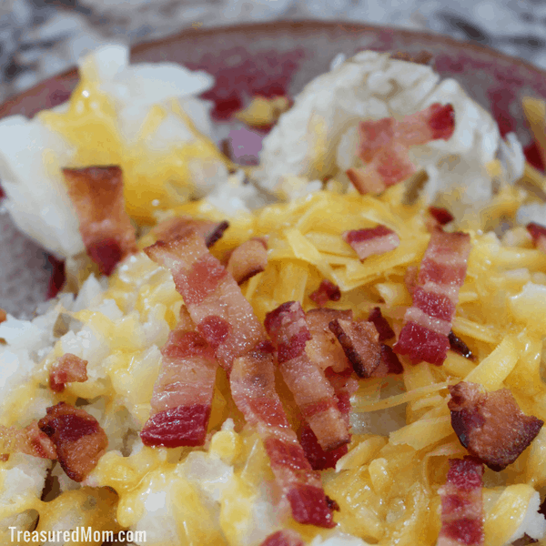 Instant Pot Baked Potato with bacon