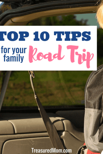 Family Road Trip Top 10 Tips, boy in back of van