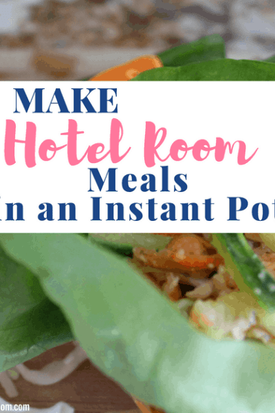 Hotel Room Meals in Your Instant Pot, asian lettuce wraps