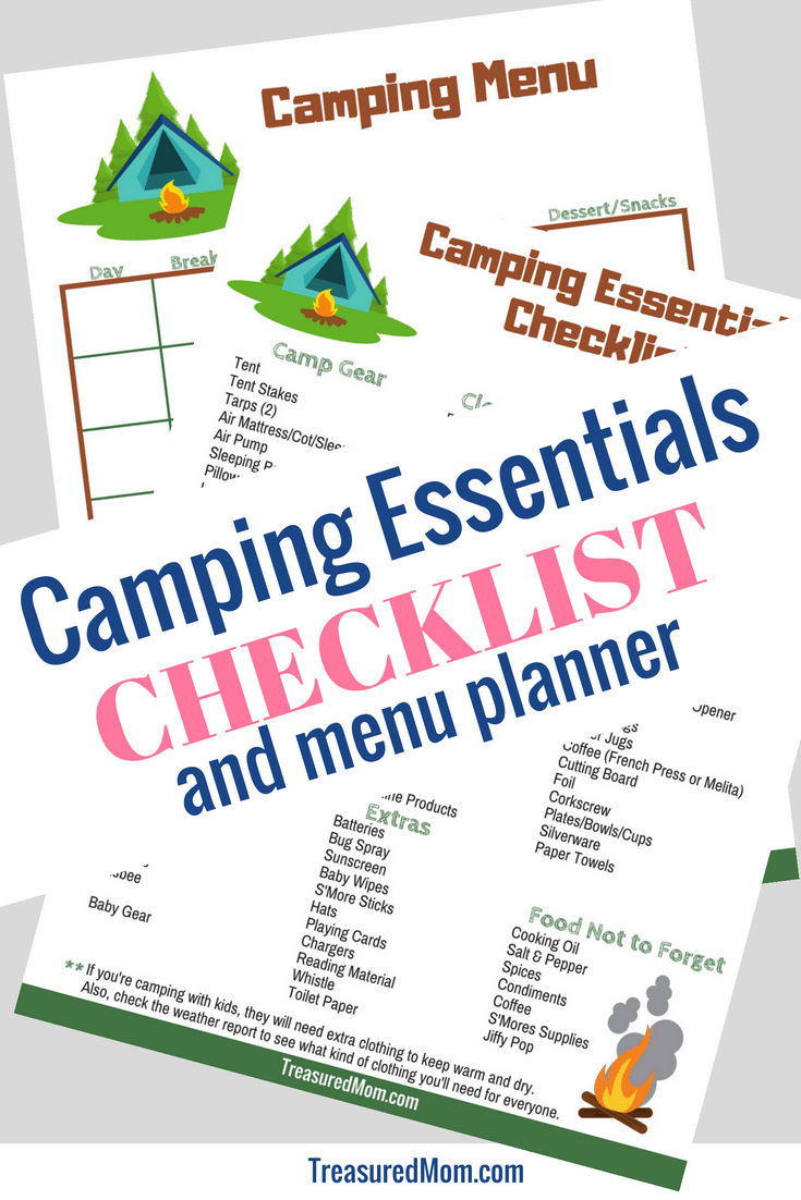 Get your camping trip started on the right foot with this great Camping Checklist. You'll know just what to bring and have all the essentials for a good time. It's the perfect camping list to get you started, covering topics like gear, kids supplies, cooking supplies, clothing, toiletries, and extras.