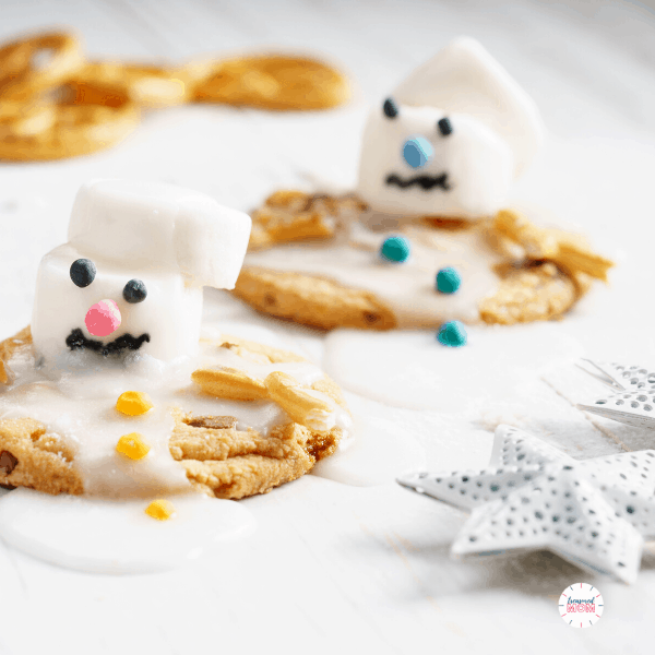 snowman cookies for save money on food during the holidays post