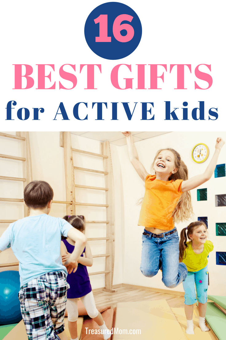 Best Indoor Toys For Active Kids. High-Energy kids need active toys when they're stuck inside, especially on rainy days. Great Gift Ideas For Fun Active Play for Busy Children.  Are you looking for Christmas gifts for kids? Click here to see more.