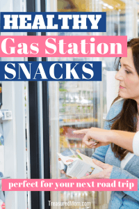 women picking out Healthy Gas Station Snacks