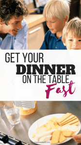 family at table with quick dinners