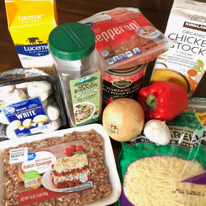 ingredients for keto instant pot pizza soup