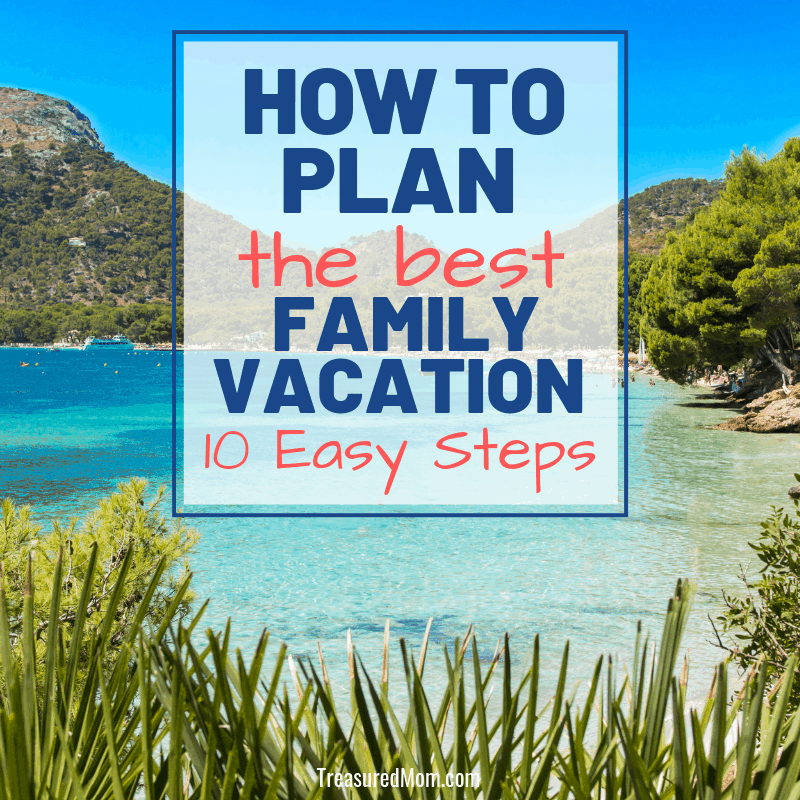 Beach surrounded by trees for how to plan family vacation