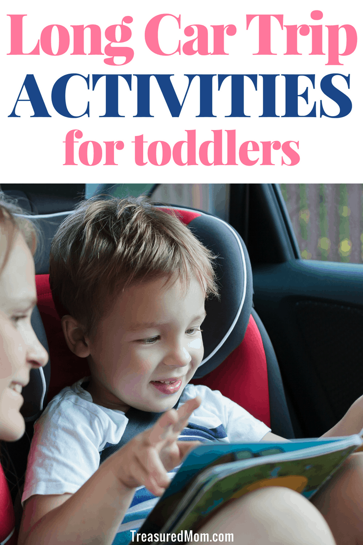 These are great road trip activities for toddlers. I've been looking for ideas for ways to entertain a toddler on a long car trip. Don't bother with DIY busy bags and created your own activities. Purchase these fun toddler travel toys for your kids. #roadtrip #travelwithkids #kidstravel #longcartrip #kidsactivities #treasuredmom