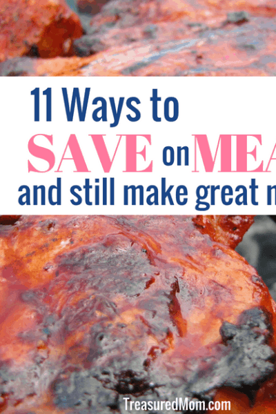 BBQ meat on grill for save money on meat post