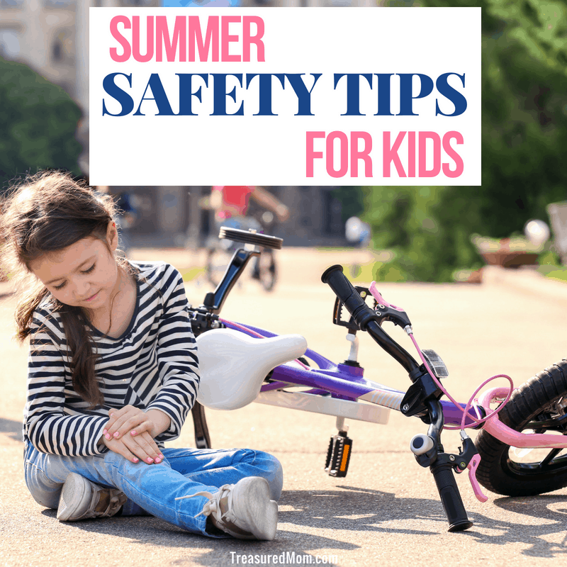 girl hurt on bike from Summer safety tips for kids article