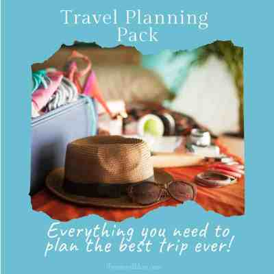 Cover for Printable Travel Planner, Trip Planner, Vacation Planner