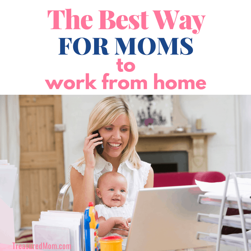 Mom working from home with Baby on her lap