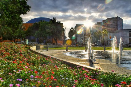 Cesar Chavez Park in downtown San Jose is perfect for a team builder