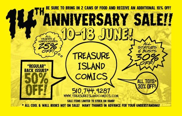 14th ANNIVERSARY SALE! 10-18 June