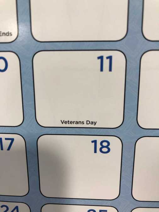 CLOSED Veterans Day 11 November