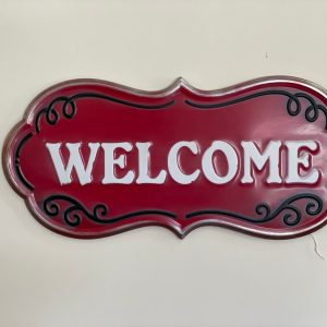 Welcome sign red