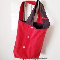 Stofftasche, Handtasche, rot