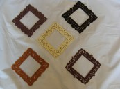 Grouping Hand Painted Small Frames