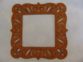 Raw Sienna Small Frame hand painted