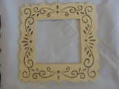 Cream Small Frame hand painted
